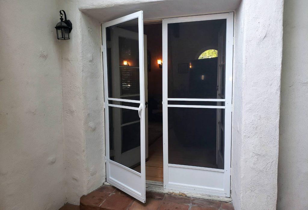 hinged swinging door screen installation